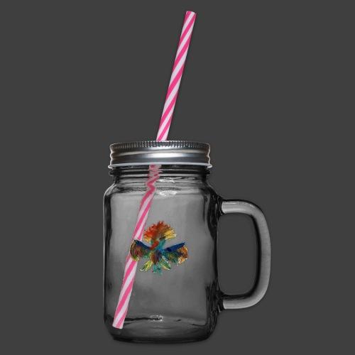 Mayas bird - Glass jar with handle and screw cap