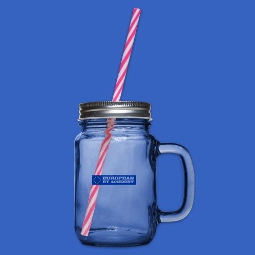 European by Accident - Europäer aus Versehen - Henkelglas mit Schraubdeckel