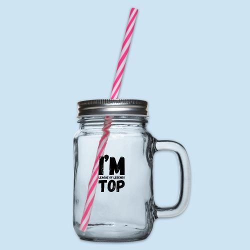 Lol Top laner - Glass med hank og skrulokk