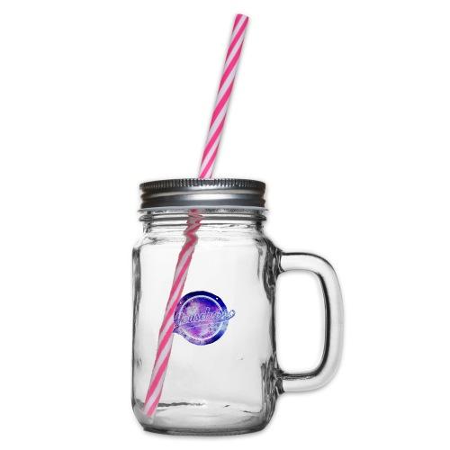 Housebass easy logo - Glas med handtag och skruvlock