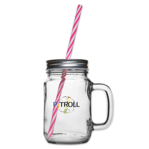 light logo spectral - Glass jar with handle and screw cap