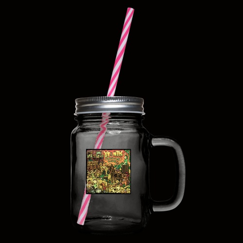 String Up My Sound Artwork - Glass jar with handle and screw cap