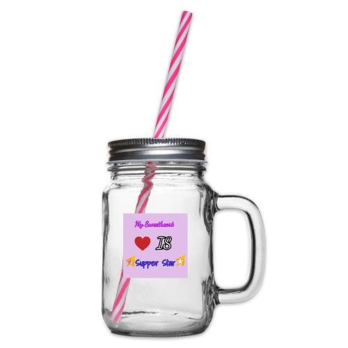 my sweetheart - Glas med handtag och skruvlock
