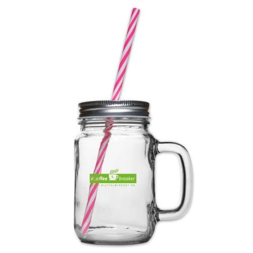 #coffeebreaker - Henkelglas mit Schraubdeckel