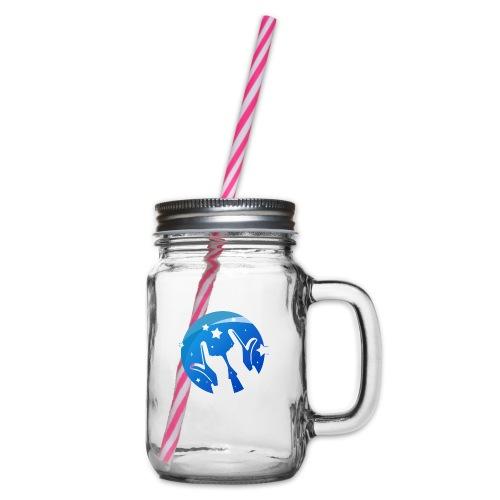 Gleam Hands loho - Glass jar with handle and screw cap