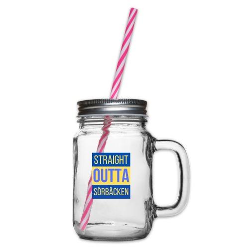 Straight outta Sörbäcken - Glas med handtag och skruvlock