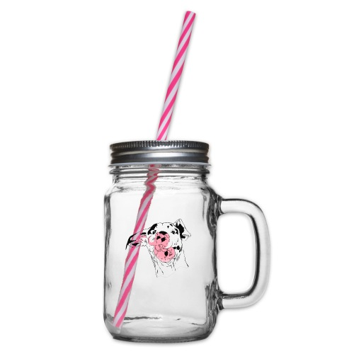 Mutka 1 - Glass jar with handle and screw cap