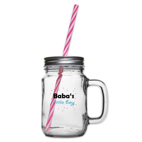 Baba's litte boy Babybody - Henkelglas mit Schraubdeckel