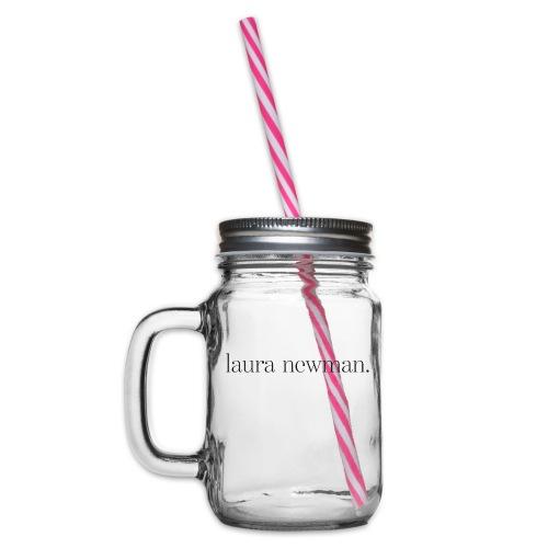 laura newman. Logo | dark - Henkelglas mit Schraubdeckel
