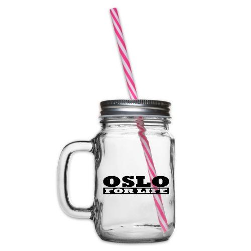 Oslo fürs Leben - Henkelglas mit Schraubdeckel