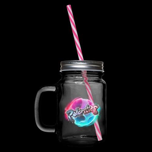 Polarities Logo - Glass jar with handle and screw cap