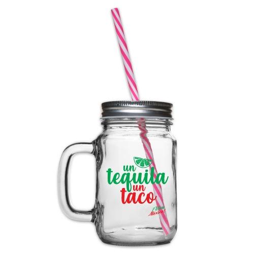 Un Tequila Un Taco - Jarra con asa y tapa roscada