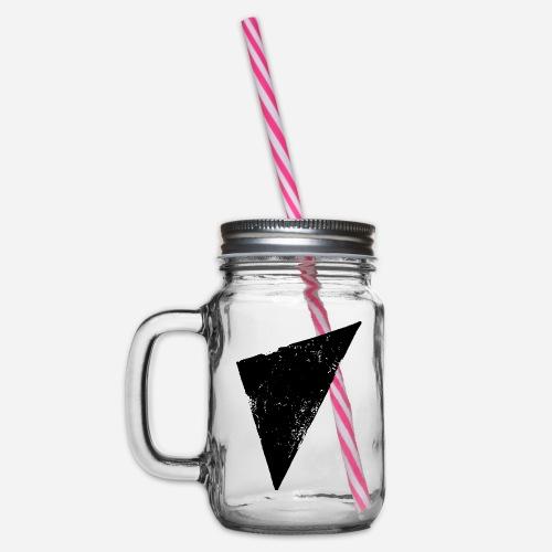 Dreieck | Polygon | Triangle - Henkelglas mit Schraubdeckel