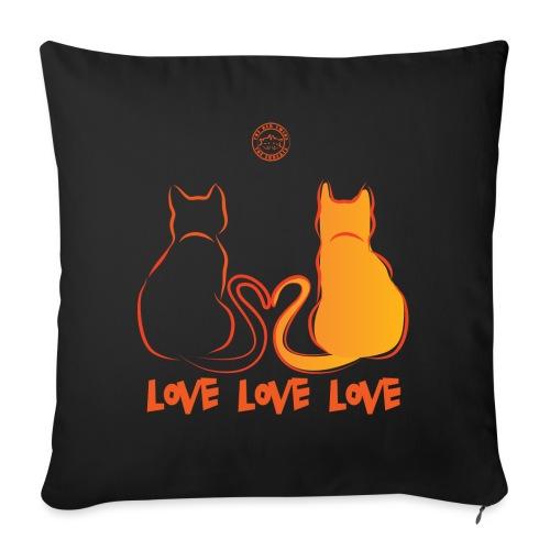 The Red Twins LOVE LOVE LOVE 2 - Cuscino da divano 44 x 44 cm con riempimento