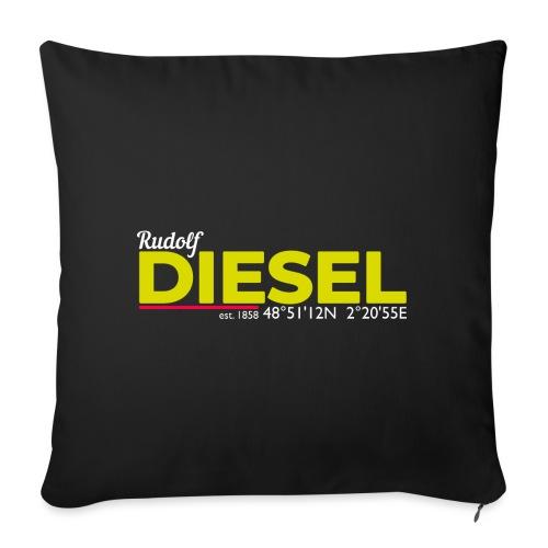 Rudolf Diesel geboren in Paris I Dieselholics - Sofakissen mit Füllung 44 x 44 cm