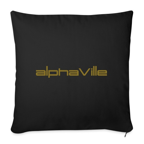 Alphaville © Official: Logo (adjustable color) - Sofakissen mit Füllung 44 x 44 cm