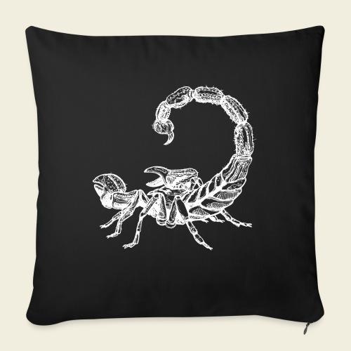 Skorpion weiß - Sofakissen mit Füllung 44 x 44 cm