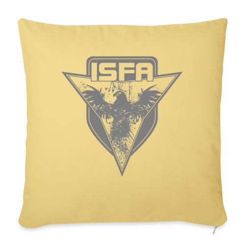 isfa logo 1c grau - Sofakissen mit Füllung 44 x 44 cm