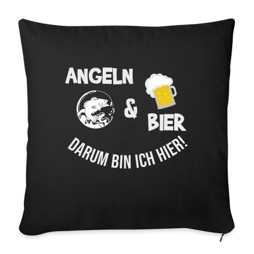 Angeln Bier Fischer Angler Sportfischer Angelfan - Sofakissen mit Füllung 44 x 44 cm