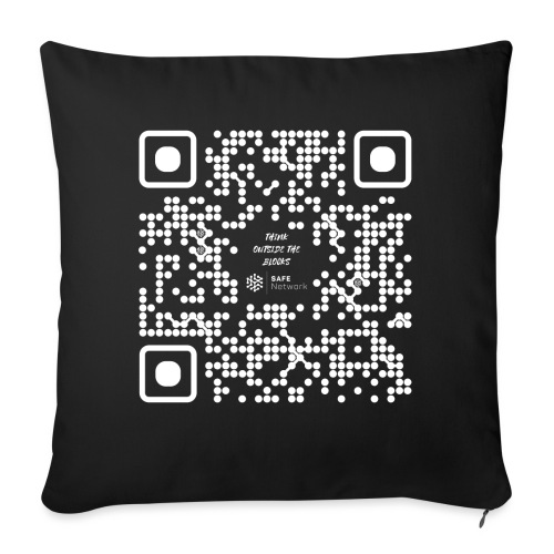 QR The New Internet Should not Be Blockchain Based W - Sofa pillow with filling 45cm x 45cm