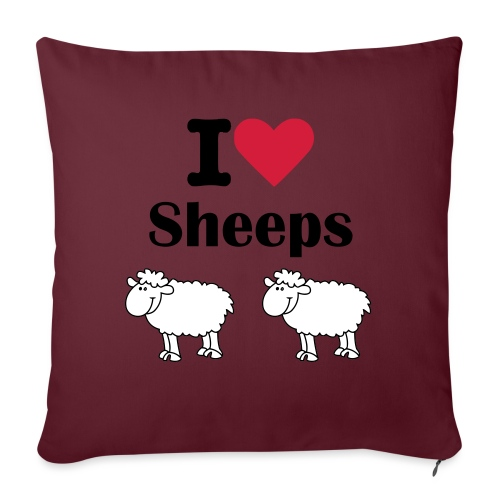 I-love-sheeps - Coussin et housse de 45 x 45 cm