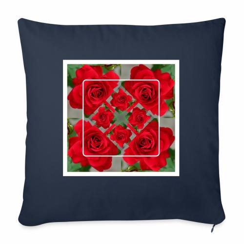 Rose Design - Sofakissen mit Füllung 44 x 44 cm