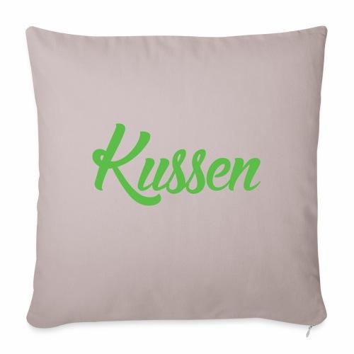 Kussen.website kussensloop groen - Bankkussen met vulling 44 x 44 cm