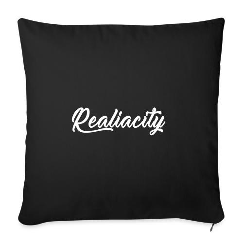 Realiacity Logo - Cojín de sofá con relleno 44 x 44 cm