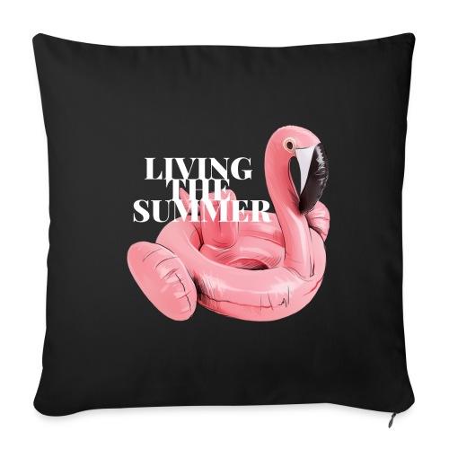 Living the Summer - Cojín de sofá con relleno 44 x 44 cm