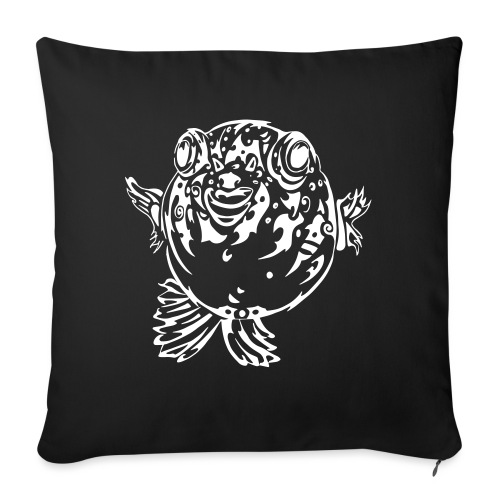 Puff the Blowfish - Sofa pillow with filling 45cm x 45cm