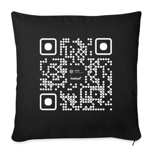 QR - Maidsafe.net White - Sofa pillow with filling 45cm x 45cm