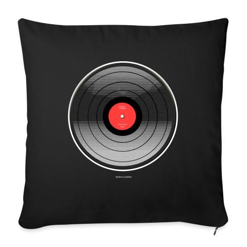 Vinyl Sunrise - Poduszka na kanapę z wkładem 44 x 44 cm