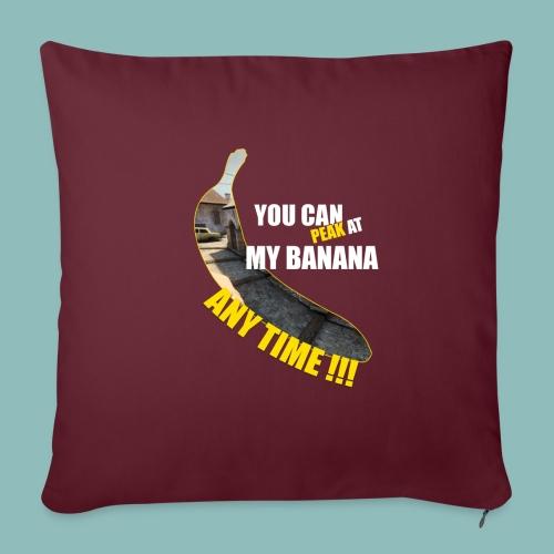 Peak my banana! - Sofakissen mit Füllung 44 x 44 cm