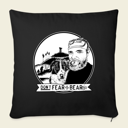 Don't fear the BEAR(d) - Sofakissen mit Füllung 44 x 44 cm
