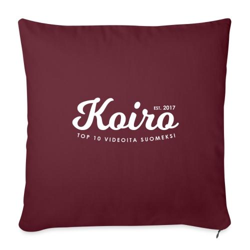 Koiro - Valkoinen Teksti - Sohvatyynyt täytteellä 44 x 44 cm