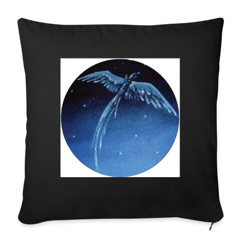 Oiseau Bleu 1 - Coussin et housse de 45 x 45 cm