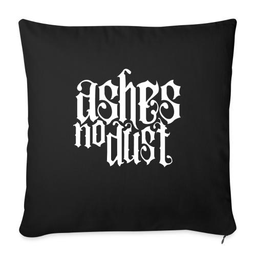 White logo Ashes No Dust - Coussin et housse de 45 x 45 cm