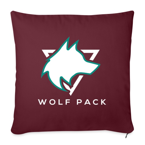 Wolf Pack Logo (NEW) - Sofa pillow with filling 45cm x 45cm