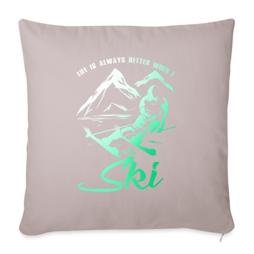 Better Life Skiing - Sofa pillow with filling 45cm x 45cm