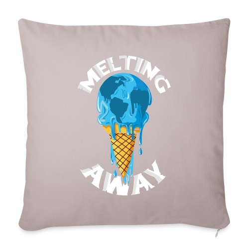 Our World Melting Away - Sofa pillow with filling 45cm x 45cm