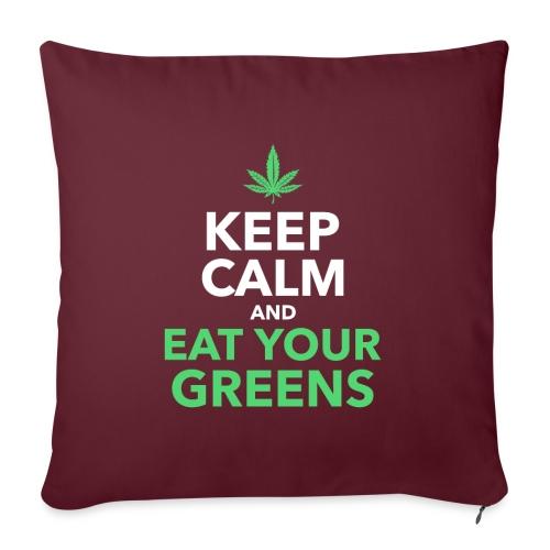 Keep Calm an Eat your greens - Sofakissen mit Füllung 44 x 44 cm