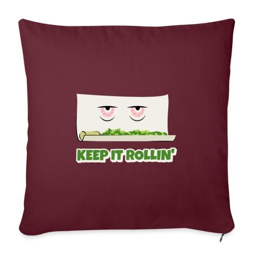 Keep it Rolllin - Sofakissen mit Füllung 44 x 44 cm
