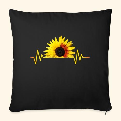 Sonnenblumen, Sonnenblume, Herzschlag, Rhythmus - Sofakissen mit Füllung 44 x 44 cm