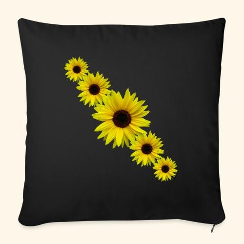 Sonnenblume, Sonnenblumen, Blumen - Sofakissen mit Füllung 44 x 44 cm