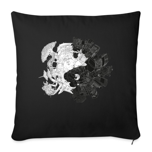 New Yin Old Yang - Sofa pillow with filling 45cm x 45cm