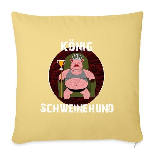 König Schweinehund BLACK - Sofa pillow with filling 45cm x 45cm