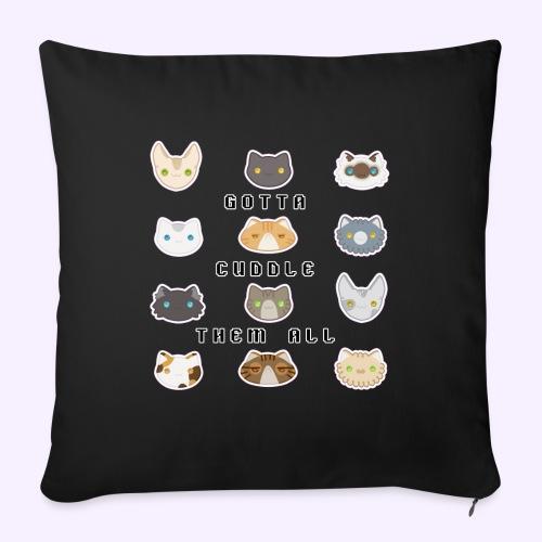 All the Cats - Cuscino da divano 44 x 44 cm con riempimento