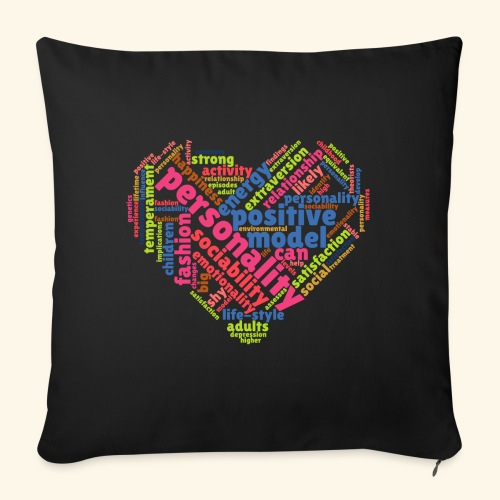 Positive Personality Model - Sofa pillow with filling 45cm x 45cm