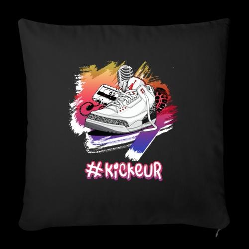 #Kickeur Blanc - Coussin et housse de 45 x 45 cm