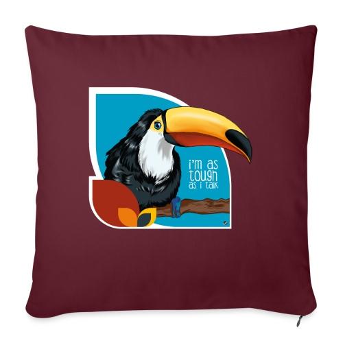 Tukan - großer Schnabel - Sofakissen mit Füllung 44 x 44 cm